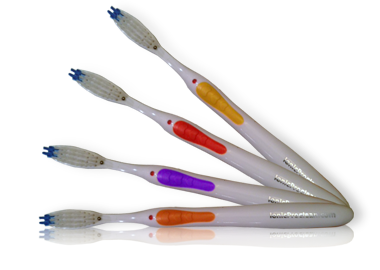 an array of ionic ProClean toothbrushes fanned out